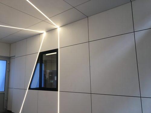 Eternit muurbekleding met ledverlichting