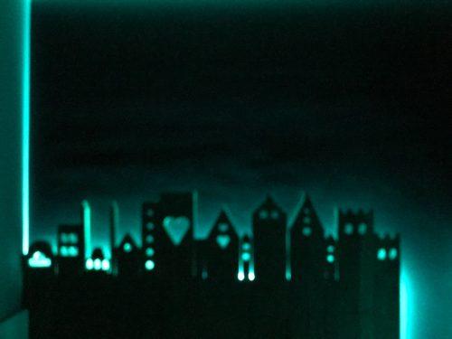 Stadje verlicht