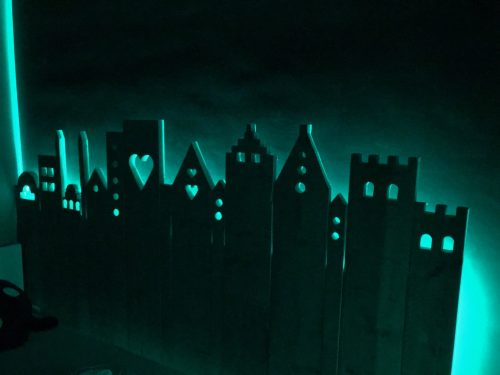 Stadje verlicht ledverlichting