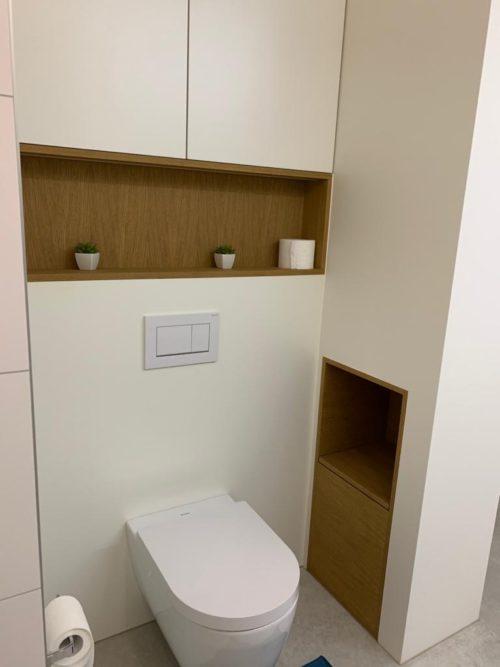 Inbouwkast wc eik fineer en hpl